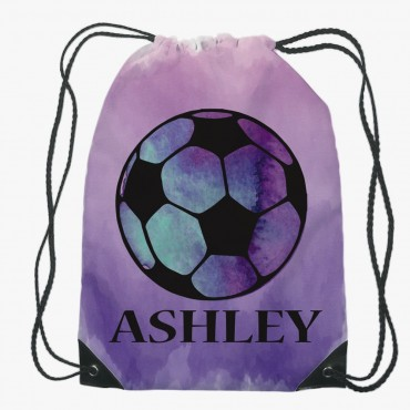 Personalized Soccer Drawstring Gym Bag