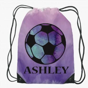 Personalized Soccer Drawstring Gym Bag