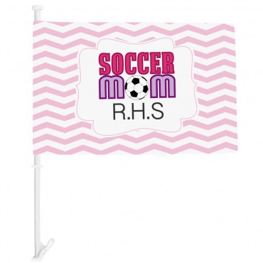Personalized Soccer Mom Car Flag
