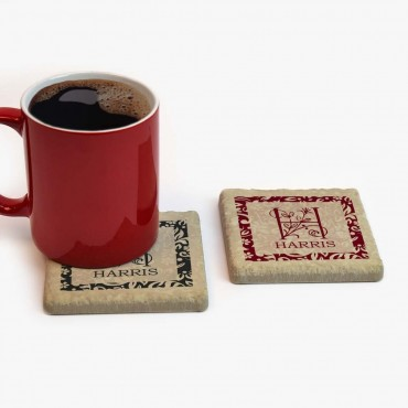 Personalized Tumbled Stone Tile Coasters