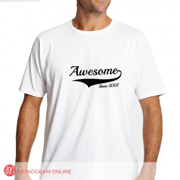 Personalized You Were Awesome Since The Day You Were Born T-Shirt