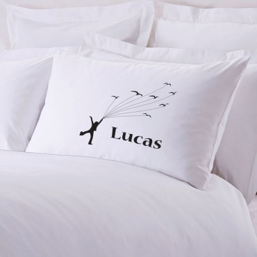 Personalized Flying With Kites Pillowcase