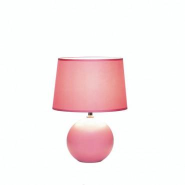 Pink Round Base Table Lamp