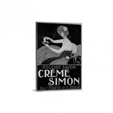 Creme Simon Poster - Canvas - Gallery Wrap