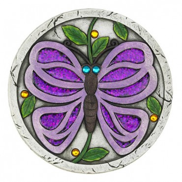 Purple Butterfly Garden Stepping Stone