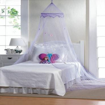 Purple Posies Bed Canopy