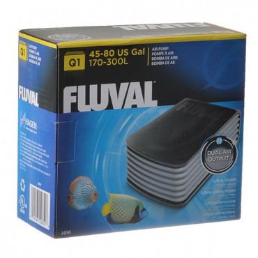 Flu-val Ultra Quiet Air Pump - Q 1 Air Pump - 2 Air Outlets - 45-80 Gallons at 2.7 PSI x 2
