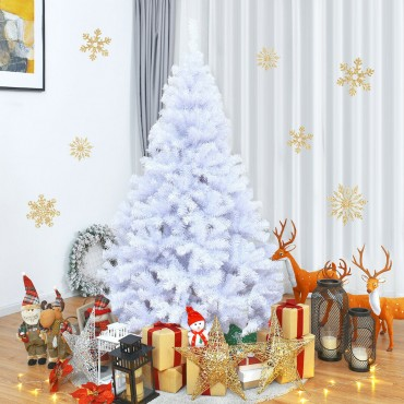 6 Ft. Hinged Artificial Christmas Tree With Metal Stand
