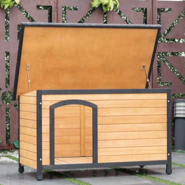 Wooden Extreme Weather Resistan Dog House Pet Shelter