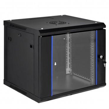9U Wallmount Data Network Cabinet With Locking Glass Door
