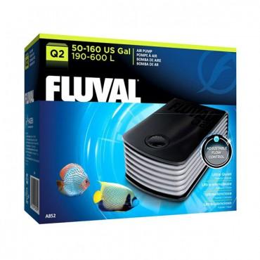 Flu-val Ultra Quiet Air Pump - Q 2 Air Pump - 1 Air Outlet - 80-160 Gallons at 3.4 PSI
