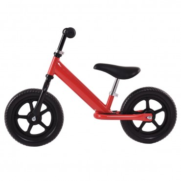 Red 12 In. Kids No - Pedal Bike W/ Adjustable Seat