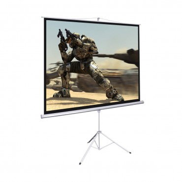 100 In. 70 x 70 Portable Square Tripod Screen Projection Projector