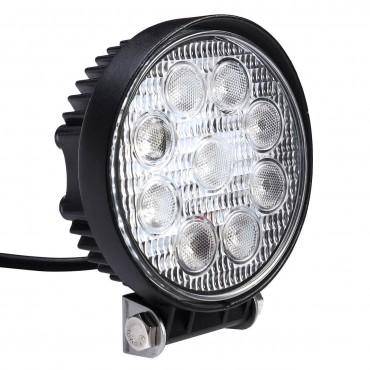 2 PCS 27W Round Flood Work Light Bar Fog Driving Lamp Truck Tractor SUV 9 LED