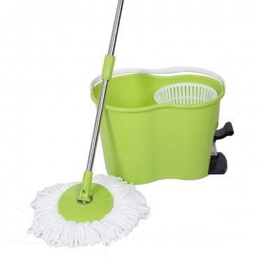 360° Rotating Magic Spin Mop Hith 2 Microfiber Heads