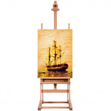 Adjustable Wood H - Frame Painting Floor Easel With Tray