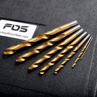 115 Pc HSS High Speed Steel Titanium Drill Bit Set Metal W/Case