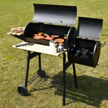 Charcoal Barbecue Patio Backyard Grill With Offset Smoker