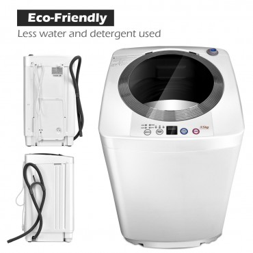 7.7 lbs Automatic Laundry Washing Machine