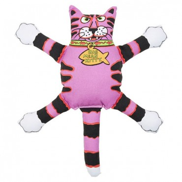 Fat Cat Terrible Nasty Scares Dog Toy - Assorted - Regular - 14 in. Long - Assorted Colors - 2 Pieces