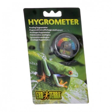 Exo-Terra Rept-O-Meter Reptile Hygrometer - Reptile Hygrometer - 2 Pieces