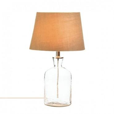 Ripple Glass Bottle Table Lamp