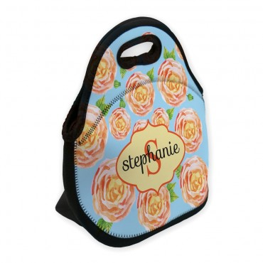 Roses In Bloom Personalized Lunch Bag