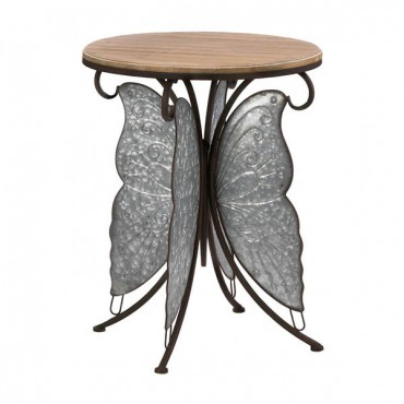 Rustic Butterfly Accent Table