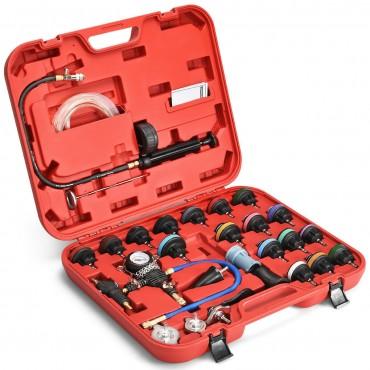 28 Pcs Pressure Tester Vacuum-Type Cooling System Refill Kit