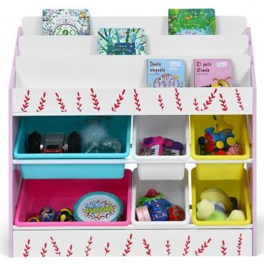 Kids Toy Storage Organizer Children Storage Bins And Book Sleeves