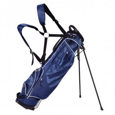 Golf Stand Cart Bag W / 4 Way Divider Carry Organizer Pockets