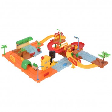 60 Pcs Railway Train Building Blocks With Light And Music