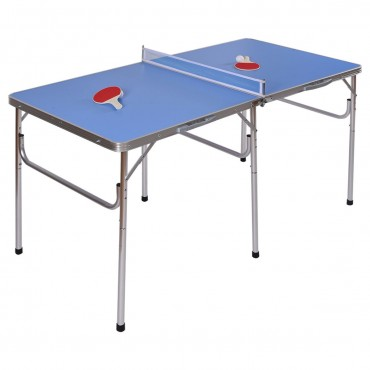 60 in. Portable Tennis Ping Pong Folding Table W / Accessories