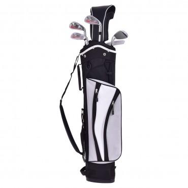 6 Pcs Kids Wood Iron Putter Golf Club Set W / Stand Bag
