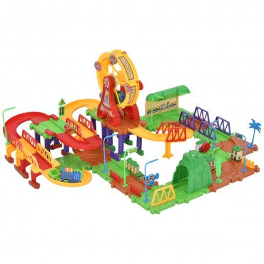 106 Pcs Railway Train Building Blocks With Light And Music