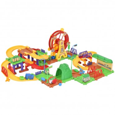 79 Pcs Railway Train Building Blocks With Light And Music
