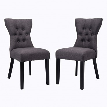 Set Of 2 Modern Elegant Dining Chairs