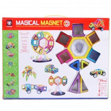 71 Pcs Magical Magnetic Construction Building Blocks