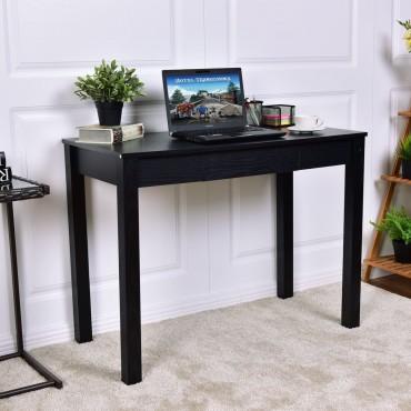 Black Computer Desk Work Station With Drawer