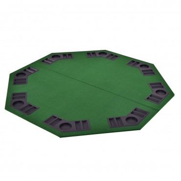 48 In. 8 Players Octagon Foldable Poker Table Top