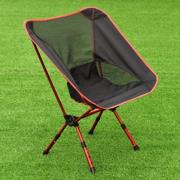 Outdoor Adjustable Folding Aluminum Camping Chair W / Bag