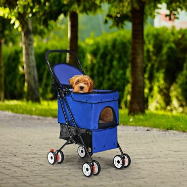 Folding Cat Dog Pets Stroller