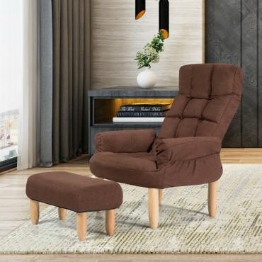 Living Room Lazy Sofa Armchair Adjustable Backrest And Headrest