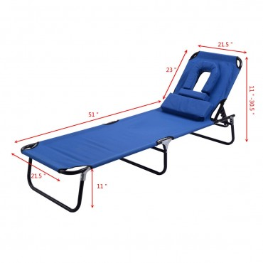 Folding Patio Recliner Lounge Chaise