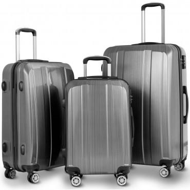 GLOBALWAY 20 In. 24 In. 28 In. 3 Pc Luggage Set Suitcase W / TSA Lock