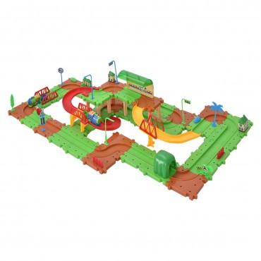 77 Pcs Railway Train Building Blocks Brick Toy