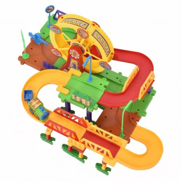 54 Pcs Railway Train Building Blocks With Light And Music