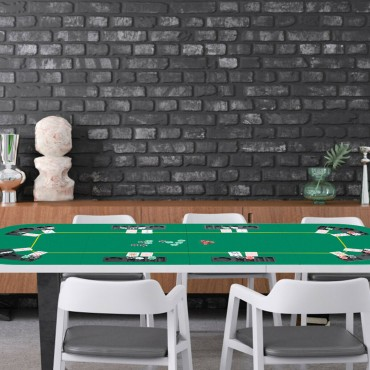 80 In. x 36 In. Folding 8 Player Deluxe Texas Poker Table Top With Bag