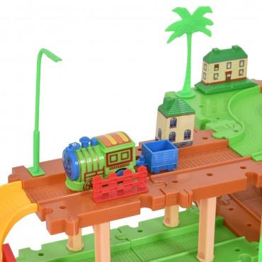 69 Pcs Railway Train Building Blocks Brick Toy