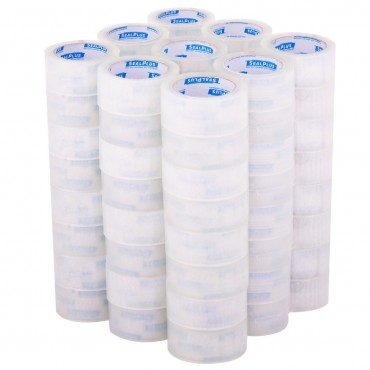 72 Rolls 1.9 x 110 Yards Carton Clear Sealing Tape